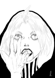 never forget your makeup routine - 鬼 Tokyo Ghoul Manga, Kaneki, Makeup Routine, Boyfriends, Raven, Emo, Anime Art, Photoshop, Drawings