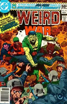 Weird War Tales #93 cover by Joe Kubert.  First Creature Commandos, who were pretty awesome.