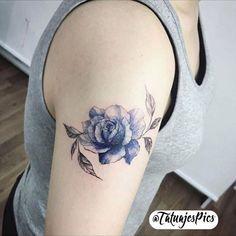#tattoo #tatuaje una rosa hermosa con un color hermoso