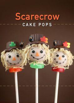 Scarecrow Cake Pops by Bakerella
