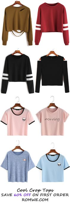 Fall Cool Crop Tops 2016 - romwe.com