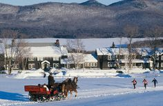Vermont after Christmas--one of the most relaxing trips I've ever taken!  Train trip, snow, roaring fires, Irish bands in the lodge...awesome.