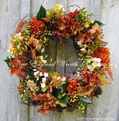 Autumn Woodland Berry Wreath  ~A New England Wreath Company Designer Original~