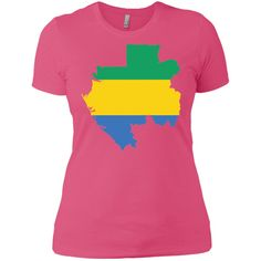 Gabon flag Next Level Ladies' Boyfriend Tee