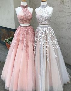 Prom Dresses Lace, Prom Dresses Two Piece, Modest Prom Dresses, A-Line Prom Dresses, Custom Made Prom Dresses Prom Dresses Long Outlet Delightful Prom Dress For Cheap Two Piece Prom Dress A-line Simple Modest African Lace Cheap Long Prom Dress # Prom Dresses Long Pink, Lace Evening Dresses, Cute Dresses, Beautiful Dresses, Dress Lace, Tulle Lace, Pink Lace, Wedding Dresses, Beaded Lace
