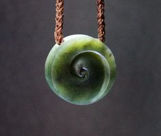Greenstone carving Jade Koru New Life Baby by TheBridgeGallery