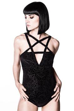 Killstar Bodysuit - Burn Baby Burn Velvet Body, € Gothic Dress, Gothic Lolita, The Rock, Drag Clothing, Killstar Clothing, Gothic Lingerie, Diy Clothes, Clothes For Women, Black Clothes