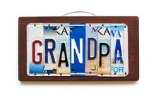 Grandpa Sign - Grandpa Art - Fathers Day gift for Grandpa - Granddad Gift - Grandpa License Plate Art - Grandpa – OOAK license plate art perfect for Father's Day Gifts. Custom signs available - Fathers Day Crafts, Gifts For Father, License Plate Art, Father's Day, Custom Plates, Grandpa Gifts, Typography Art, Dad Birthday, Upcycled Vintage