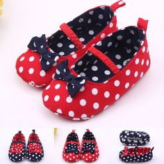 Winter Neonatal Girl Bows Multi-color Spots Red Toddler Slippers Bed Shoes Ankle Warm Wind Design First Walk Xz21 Fashionable Patterns Baby Shoes