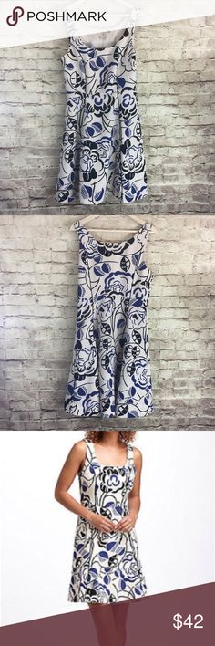 Anthropologie Vanessa Virginia Ink-Set Bloom Dress Fit and flared fully lined dress. Side zip. Approximate measurements: chest (armpit to armpit) 18 inches; length 33 inches. Vanessa Virginia Dresses Mini