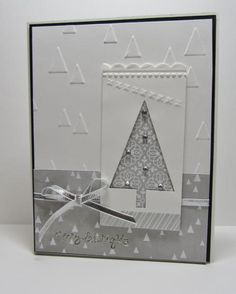 Monday, August 11, 2014 d   CAS SUO Good Greetings Tree Punch On Point Embossing Folder All is Calm Specialty Designer Series Paper Christmas Stamps: Good Greetings (Hostess Set for Holiday Catty)