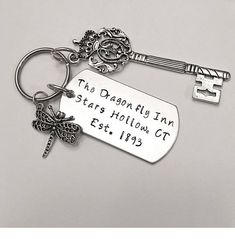 Gilmore Girls ~ dragon fly key chain