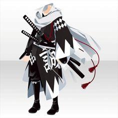 雪に咲く紅色の華 ガチャ@セルフィ「冬椿の剣」 Manga Clothes, Drawing Clothes, Character Concept, Character Art, Character Design, Anime Outfits, Boy Outfits, Ronin Samurai, Boys Clothes Style