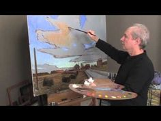 Oil Painting Techniques: Dramatic Sky - YouTube