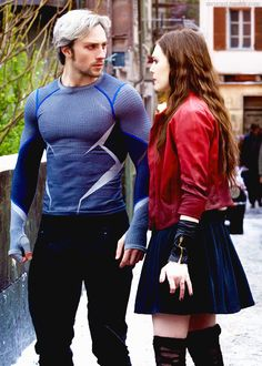 Wanda and Pietro (Scarlet Witch and Quicksilver)