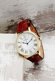 Shashi Leather Analog Watch | Forever 21 - 1000095875
