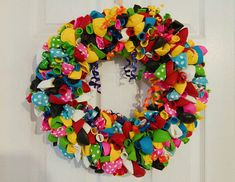 Balloon Wreath / Multicolored wreath / Birthday wreath / Door