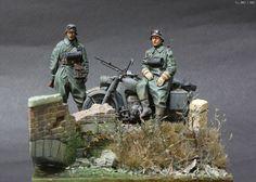 alpine miniatures - German Motorcyclist & ks750 side car