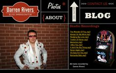 Website promoting one of the best Elvis impersonators in Yorkshire! Fabulous Elvis Presley sound-alike, with high quality audio samples.