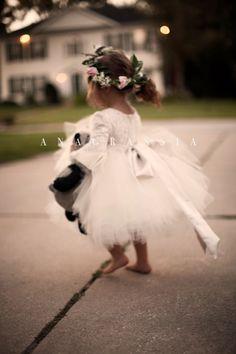 Alencon Lace Flower Girl Dress