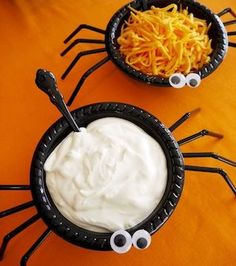 Throw a spooktacular party with these Halloween party ideas, which include decorations, food, games, centerpieces and much more! There are over a hundred Halloween party ideas for kids AND adults. From creepy to cute, there are great party ideas for everyone. Decor Halloween Party Ideas Spooky Halloween Buffet  Black and White Candy Wicked Pumpkin Centerpiece …