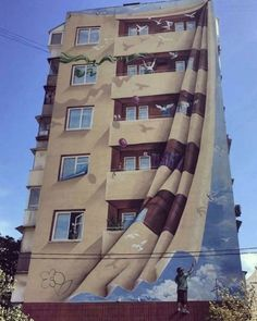 30 most amazing and unique wall art - graffi .- 30 erstaunlichste und einzigartigste – Graffiti Art – 30 most amazing and unique wall art – graffiti art – # art amazing - Street Art Banksy, Murals Street Art, 3d Street Art, Art Mural 3d, Amazing Street Art, 3d Wall Art, Street Artists, Illusion Kunst, Illusion Art