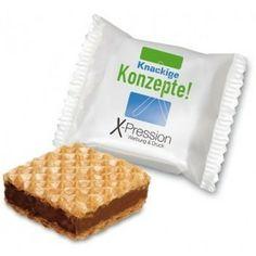 Hazelnut slice personalizzato. Per info: http://bestpromotion.it/index.php/dolci-personalizzati/biscotti-personalizzati/wafers-hazelnut-slice-personalizzato.html