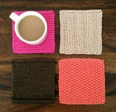 コースターは、程よいサイズなので色々な編み方の練習にもピッタリ*他の編み物で余った毛糸を使うのにもちょうど良いです。