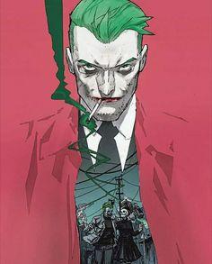 Check out Inherent Clothier shop for Premium Quality Suits! Joker Comic, Joker Dc, Joker And Harley Quinn, Comic Art, Dc Comics Art, Marvel Dc Comics, All Jokers, Batman Art, Face Design