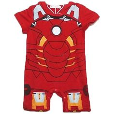 Become part of the Avengers in your very own Iron Man Baby Onesie