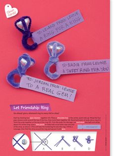 Pipe cleaner ring valentine