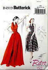 BUTTERICK PATTERN FLARED DRESS RETRO '52 IN 2 LENGTHS SIZE 6-8-10-12 # B4919
