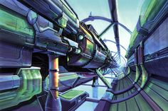 View an image titled 'Lunar Gate Launch Bay Art' in our Final Fantasy VIII art gallery featuring official character designs, concept art, and promo pictures. City Landscape, Environment Design, Traditional Art, Final Fantasy, Art Pictures, Finals, Character Art, Gate, Concept Art