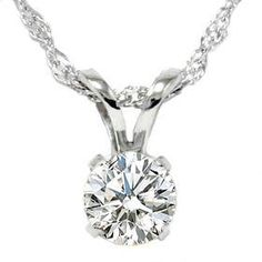 .55CT Solitaire Round Diamond White Gold New Pendant