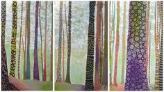 Inked Forest (Triptych)