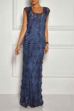 hairpin lace crochet dress