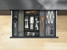 Ambia-Line in steel design drawer cutlery insert