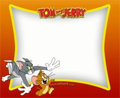marcos-tom-y-jerry-imagenes-de-tom-y-jerry-stickers-tom-y-jerry-tarjetas-de-tom-y-jerry-imprimibles-de-tom-y-jerry Birthday Card Template, Birthday Cards, Bolo Tom E Jerry, Desenho Tom E Jerry, Notebook Labels, Tom And Jerry Wallpapers, Tom And Jerry Cartoon, Sofia Party, Batman Party