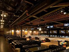 Brooklyn Bowl - 61 Wythe Ave., Brooklyn, NY 11211 [music venue, bowling alley, bar, and restaurant all rolled into one]