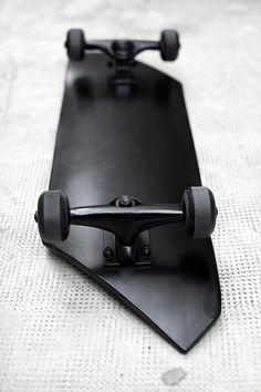 black matte skateboard