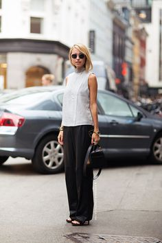 Pernille Teisbæk - Stockholm Streetstyle. Simple and classy.