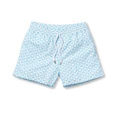 Ipanema Sports Swim Shorts in Baby Blue for Men from Frescobol Carioca - Rio de Janeiro | SHOP ONLINE