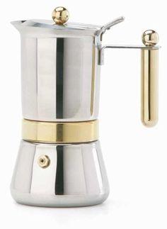 Vev Vigano 8152 Vespress Gold 2-cup Coffee Pot