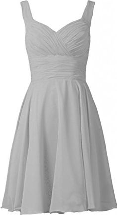 ANTS Women's V-neck Chiffon Bridesmaid Dresses Short Prom Gown Size 8 US Silver ANTS http://www.amazon.com/dp/B00QQKI1WM/ref=cm_sw_r_pi_dp_vKCTub1F82V2T