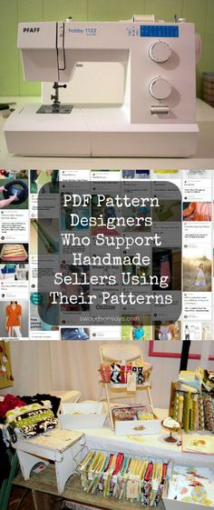 PDF Pattern Designers List - Designers who encourage handmade sellers to use their patterns for craft shows and Etsy shops.