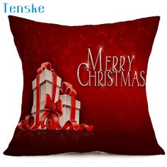 Christmas Pillow Case Sofa Waist Throw Cushion Cover Home Decor 45cm*45cm Hot new de almohada drop shipping Oct11 #Affiliate
