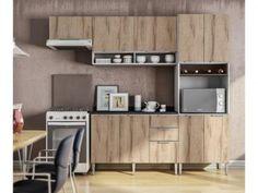 Armário de Cozinha Líder Casa Aroma - 9 Portas 3 Gavetas com as melhores condições você encontra no Magazine Tradelux. Confira!