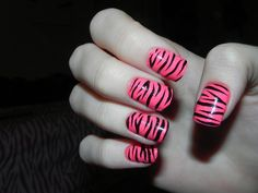 Abstract : 40  Collections of Cute Nail Designs From Tumblr - Simple Black And Pink Nail Art
