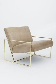 A Chic, Mid-Century Lounge Chair You Need to Own Chair Teak Wood Elegant Sitting Tweed Upholstery Fabric MCM Mid Century Modern Home Decor #Loungechairs