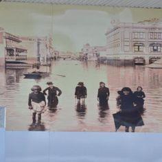 Pub on left flooded